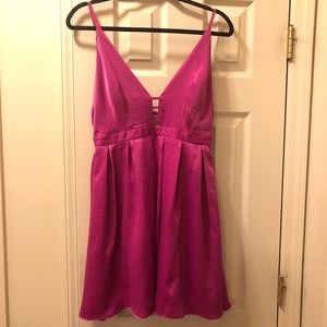 Free People Party Dress in Magenta